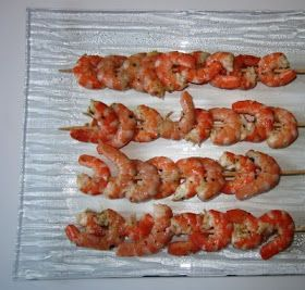 Blog de recettes Weight Watchers Propoint... Ou pas!: Brochettes de crevettes au citron et à l'ail - Weight Watchers Propoint