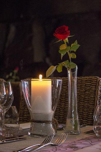 Restaurant Origo, Rose And Candle #visitsouthcoastfinland #hanko #Finland #restaurantorigo #origo #food #restaurant #candle #rose #flower #romantic
