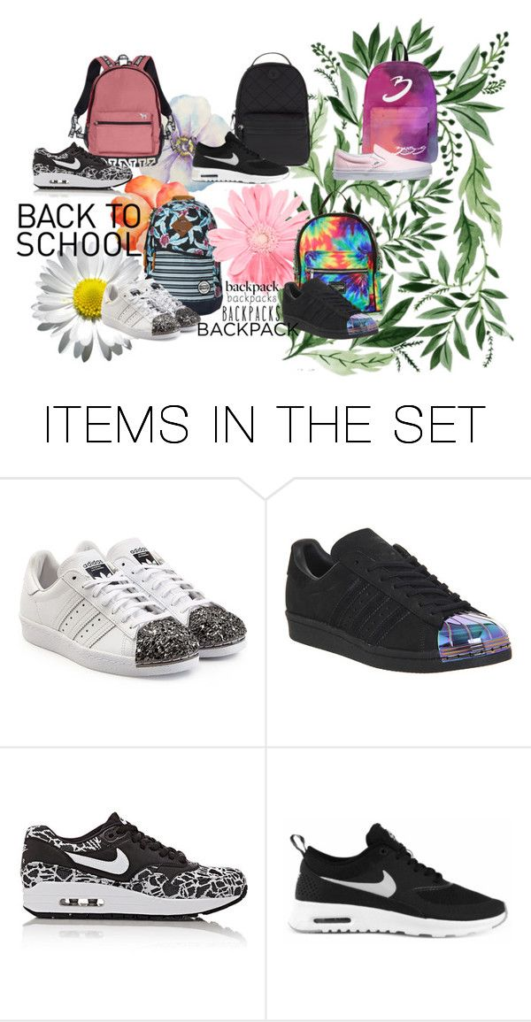 """""""Sin título #35"""" by carolinabelen ❤ liked on Polyvore featuring art, BackToSchool and backpacks"""