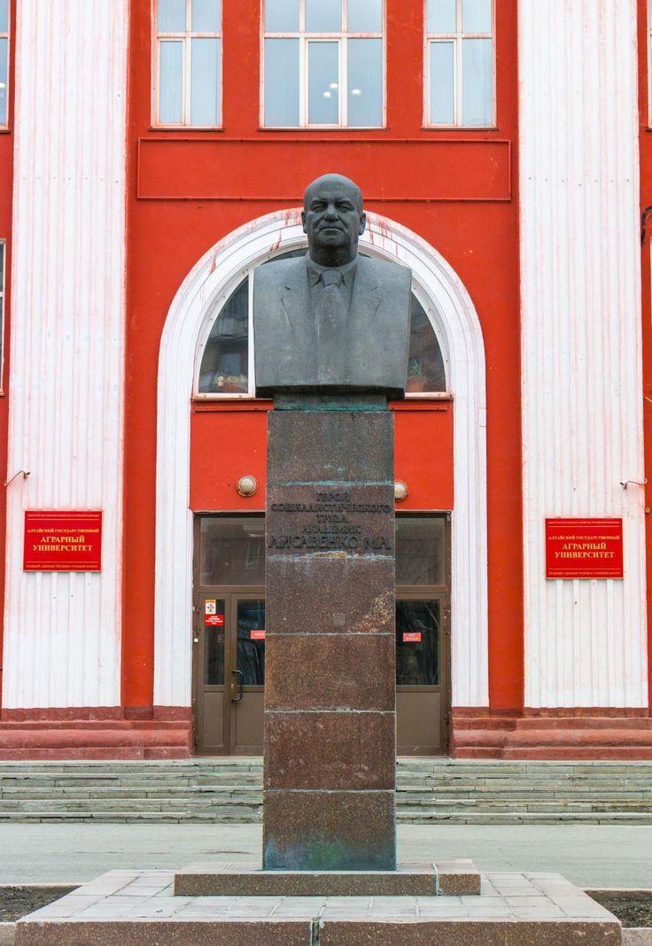 Памятник- бюст М. А. Лисавенко