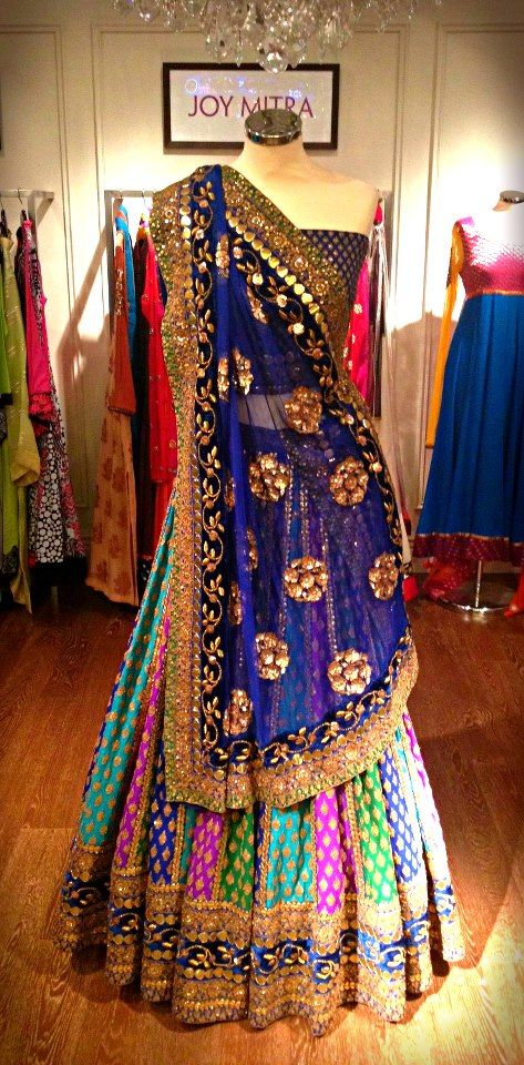 Curly Fries: KAPRAY SHAPRAY: Peacock Lengha by Sabyasachi