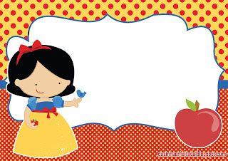 Snow White invitation to print free and more  http://www.casinhadecrianca.com/2013/09/kit-festa-branca-de-neve-para-imprimir.html