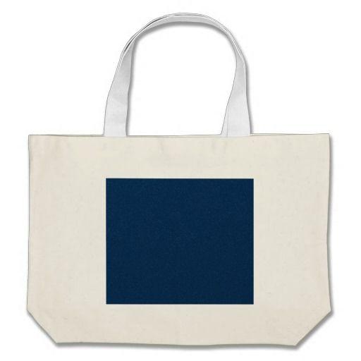 PANTONE Classic Blue with fine faux Glitter Canvas Bag