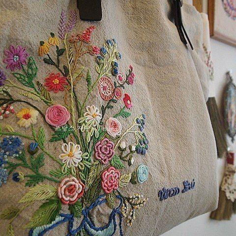#Embroidery#stitch#needlework #프랑스자수#일산프랑스자수#자수 #언제나 인기만점 꽃다발~~ #수강생분작품~