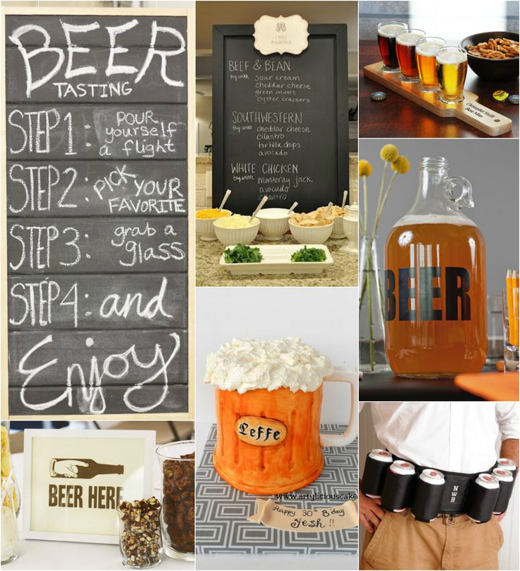 Marshalls birthday? Beer Tasting Birthday Party #AdultBirthday #BirthdayTheme