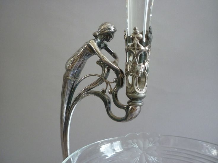 Wmf Table Centre Crystal Size Argente And Metal Art Nouveau 1900 - art objects