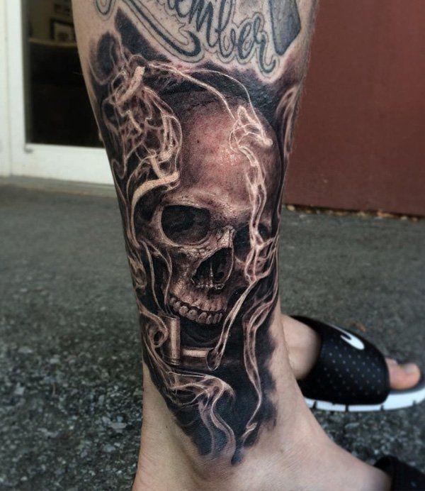 Skull tattoo for men - 100 Awesome Skull Tattoo Designs  <3 <3   tatuajes | Spanish tatuajes  |tatuajes para mujeres | tatuajes para hombres  | diseños de tatuajes http://amzn.to/28PQlav