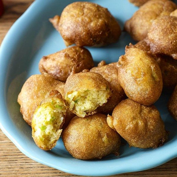 """Buttermilk Hush Puppies I """"They were so light and fluffy--not heavy or doughy at all. No need to keep them warm in the oven--we were eating them as soon as they came out of the fryer!"""""""