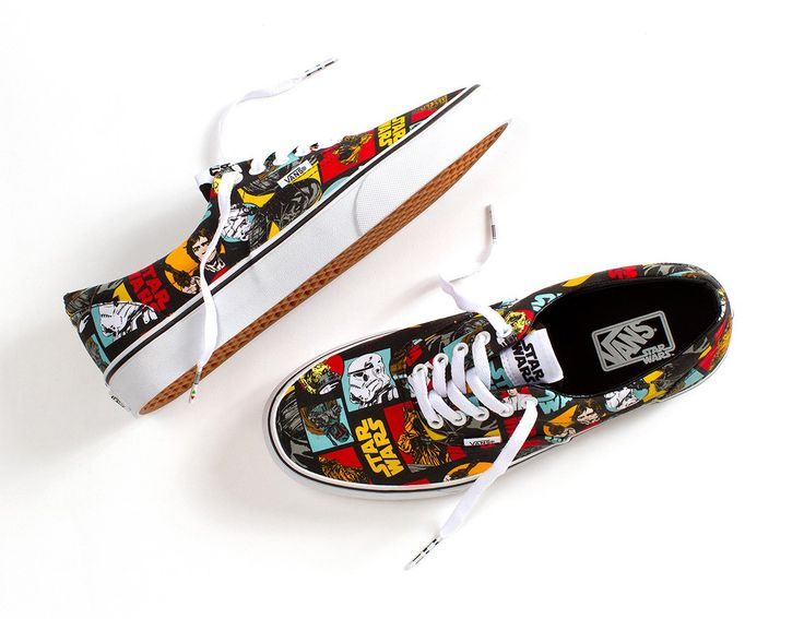 Iconic forces merge in the Vans x STAR WARS collection when scenes and characters from the legendary film meet up with the Vans Era. Featuring a graphic printed of the characters and logo. This shoes sure is a must. http://www.zocko.com/z/JEoSU