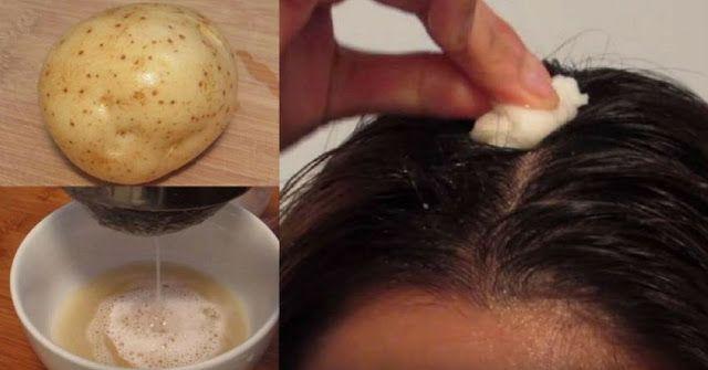 Πώς θα καλύψετε τις γκρίζες τρίχες με φυσικό τρόπο - με χυμό πατάτας και το φυσικό χρωστικό της.