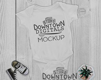 e186a134 RABBIT SKINS 4400 Mockup, White Baby Bodysuit Mock Up, Infant Onesie Mock Up,  Onesie Mockups, Onesie Mock Ups, Baby Rib Mockup