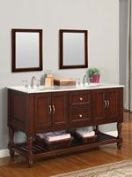 Double Sink Bathroom Vanity Decorating Ideas 98 best cherry wood vanities images on pinterest | bath vanities