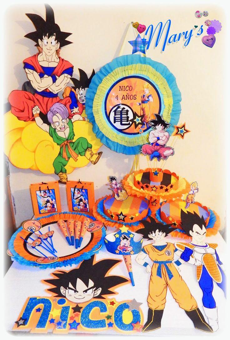 Diy Birthday Party Ideas Parties Dragon Ball Z Goku Bane Tortilla Celebrations