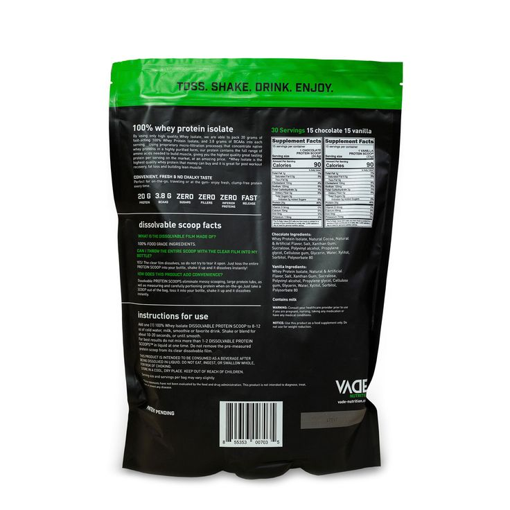 Dissolvable Protein Scoops™ 100% Whey Isolate - Combo Pack