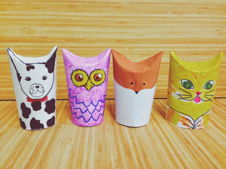 Animal Face Tissue Roll DIY