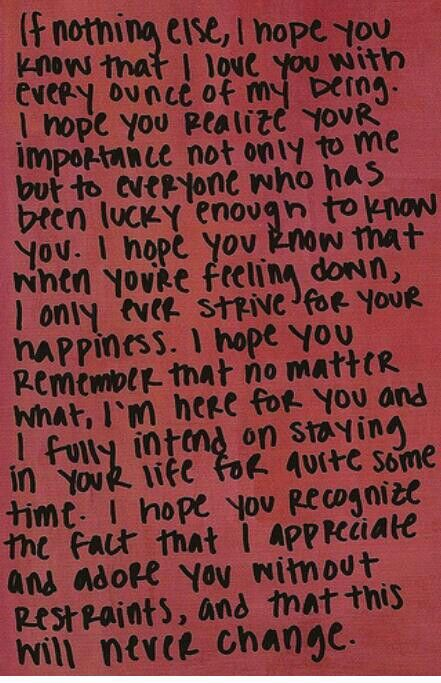 i sent this to my boyfriend one day... thats when i got my first i love you <3