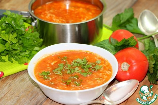 Томатный рисовый суп ингредиенты