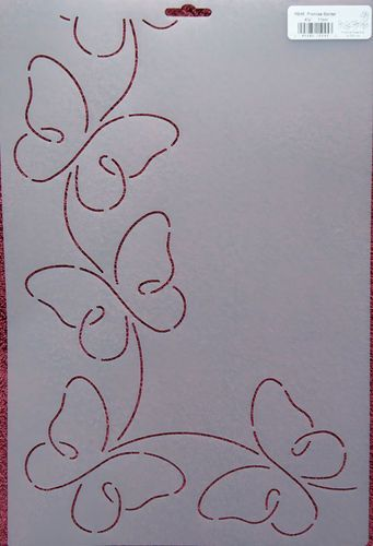 "Stencil Quilting Promise Border 4 1 4"" 11cm RB45 Butterflies Butterfly Quilt | eBay"