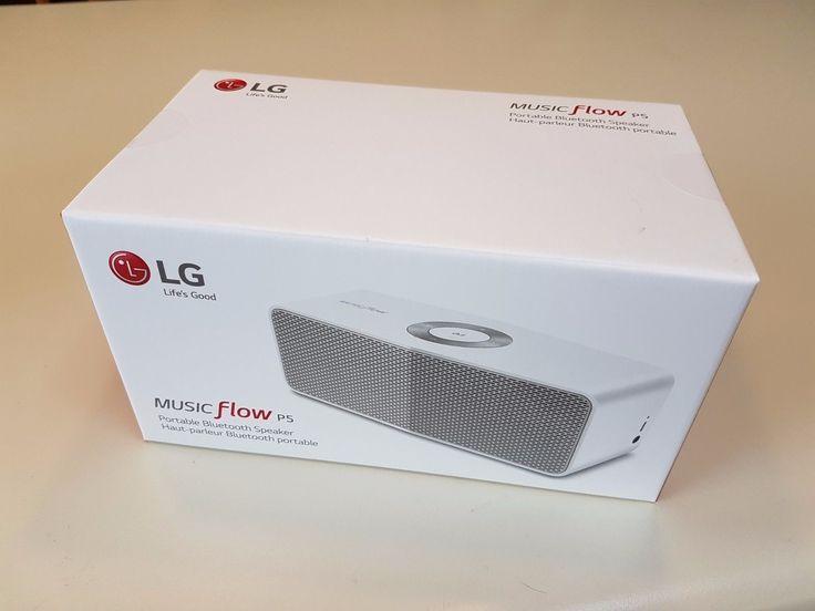 LG NP5550W WHITE Music Flow P5 Portable Bluetooth Speaker  NEW SEALED!