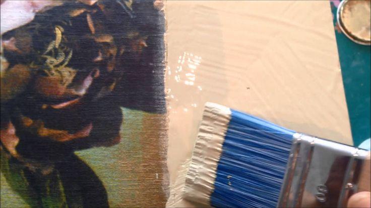 Se hvordan du krakelere Annie Sloan Chalk Paint, med en føntørre.