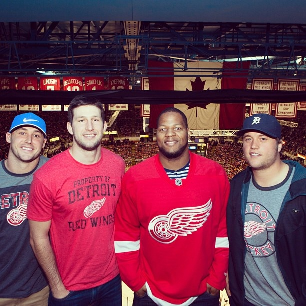 Detroit Lions players at The Joe in May = Playoffs