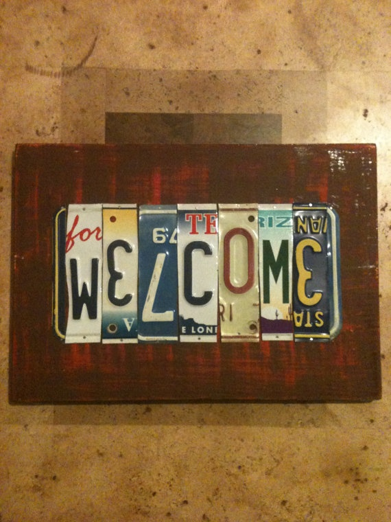 License Plate Sign  Welcome by plateworks on Etsy, $38.00