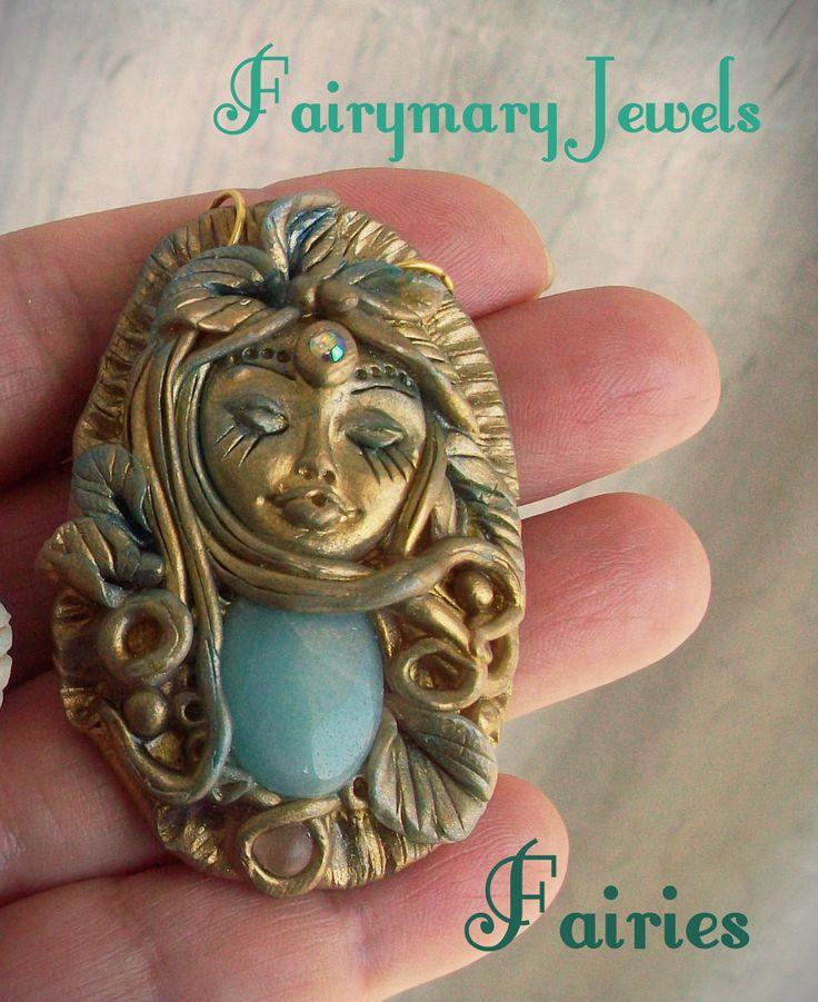 Fairies cammeo in pasta polimerica e pietre semipreziose https://www.facebook.com/pages/fairymary-creazioni-fimo/208528805873162?ref=hl