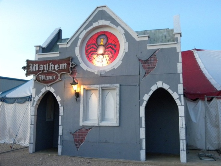 Entrance and Exit for haunt Halloween Facade Pinterest