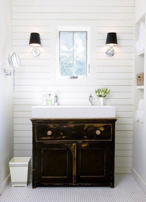 Horizontal Beadboard Bathrooms Pinterest Powder