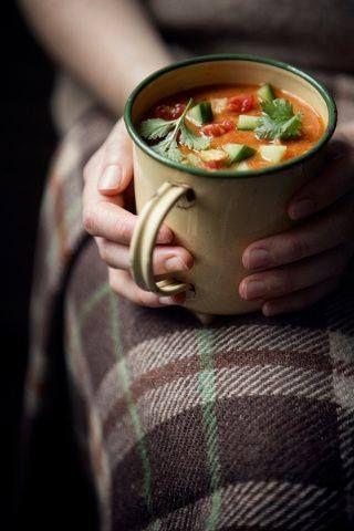 hot soup on a rainy day..