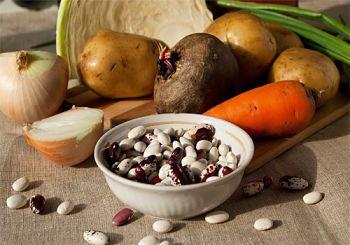 Борщ с фасолью - рецепт с пошаговыми фото / Меню недели