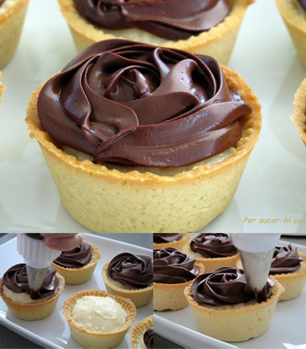 Inspirados en la receta Norteamericana del Boston Cream Pie