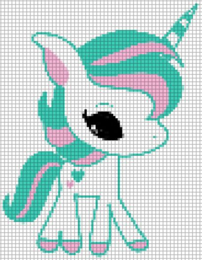 cute unicorn pattern-->could also be altered to be a pattern for a pony. The little ones.....