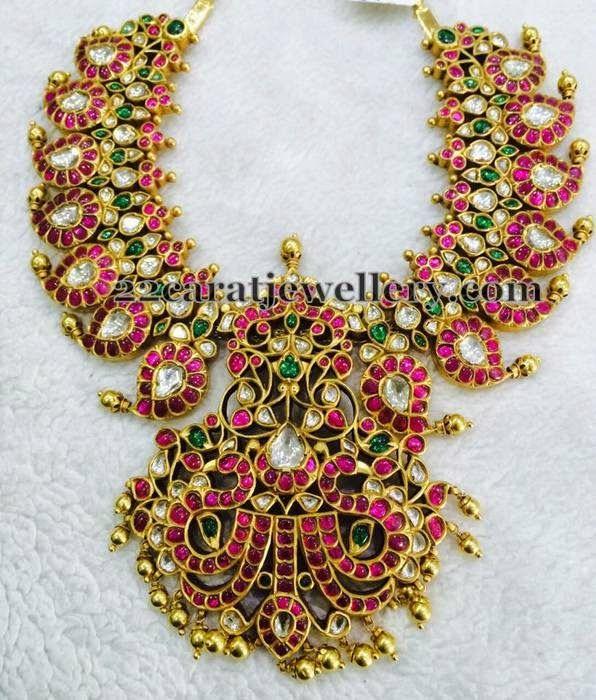 Jewellery Designs: Ethnic Mango Mala Gallery