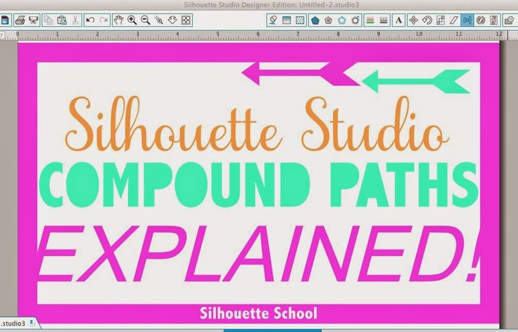 I get more questions about Silhouette Studio compound paths than pretty much anything else. It's not an easy concept to explain, visualize or understand and therefore is often confused with grouping