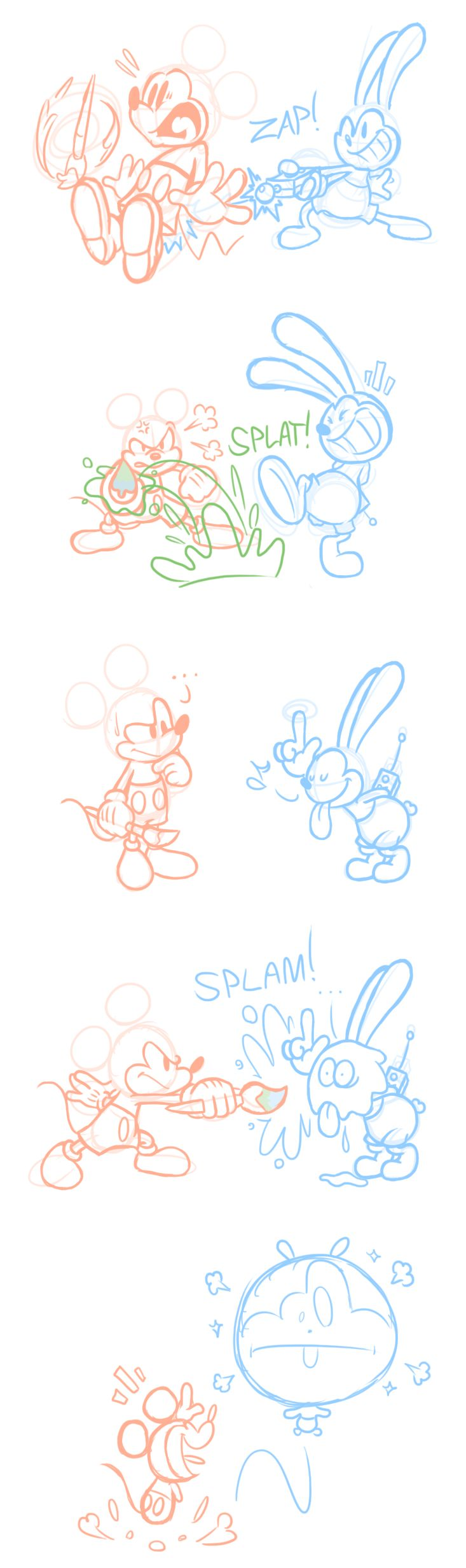 Epic Mickey 2 Comic - Battle of the Bros. by JamesmanTheRegenold.deviantart.com on @deviantART