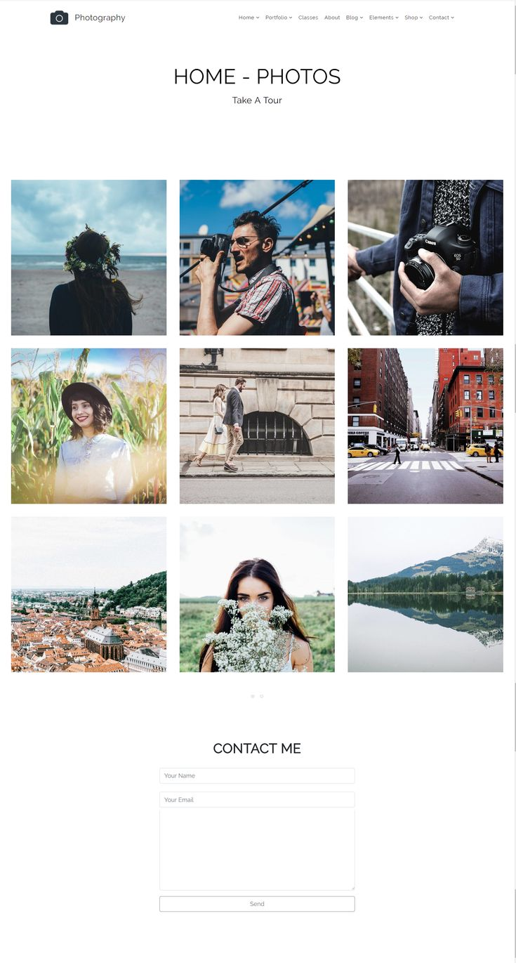 Home – Photos – Photography WordPress Theme