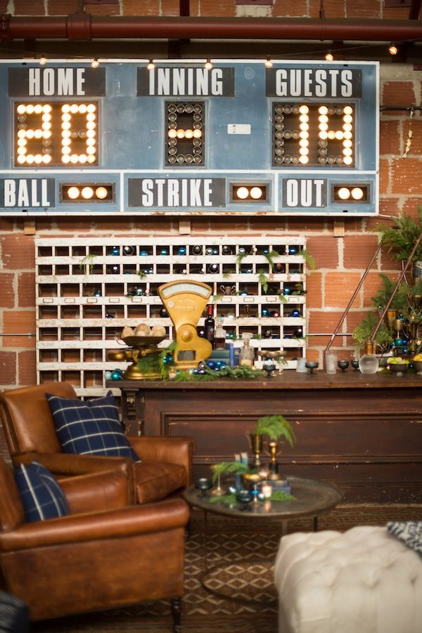 Found Vintage Rentals Lounge Vignette, Schuman Bar And Our Chinook Cubby As  An Alternative Barback · Sport Bar DesignSports ...