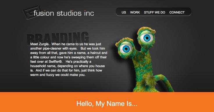 Branding Page, Fusion Studios Inc.