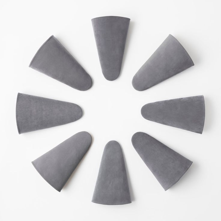 Nendo has designed cone-shaped stackable slippers.