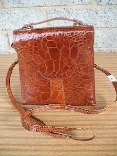 Gorgeous 1970's Korean Leather Bag.
