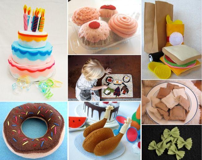 17 mejores ideas sobre comida de juguete de fieltro en pinterest patrones de alimentos de - Manualidades cocina para ninos ...