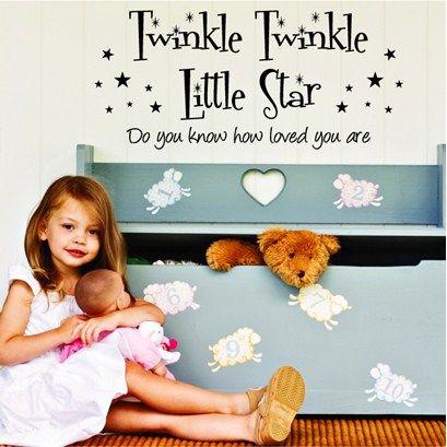 Twinkle Twinkle Little Star Wall Art from Next Wall Stickers