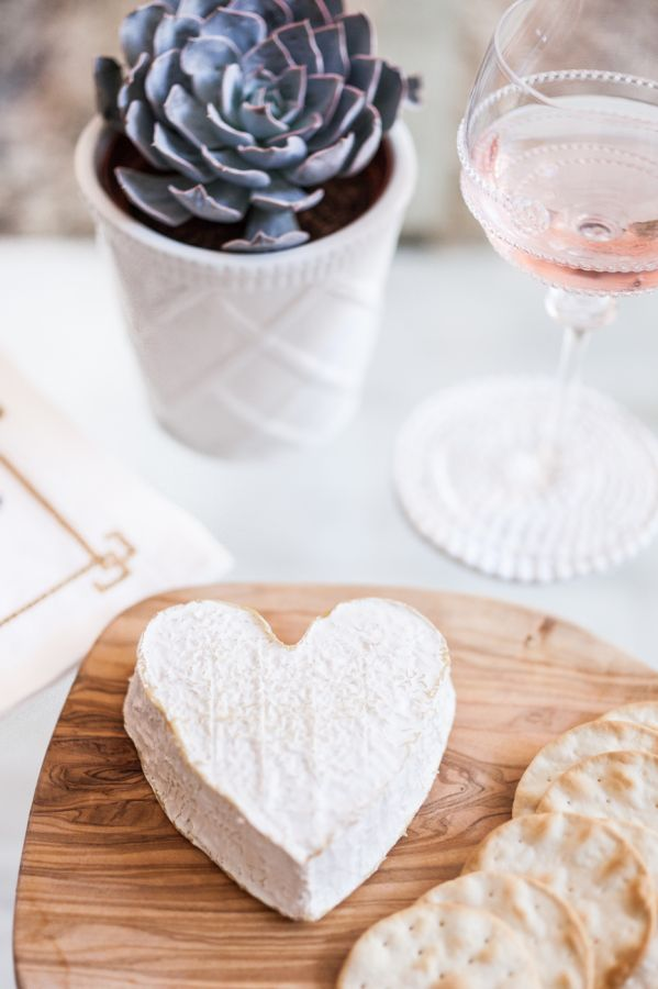 Heart shaped brie! http://www.stylemepretty.com/living/2015/09/16/behind-the-blog-the-fashionable-hostess/ | Photography: Lindsey Grace - http://lindseygrace.com/