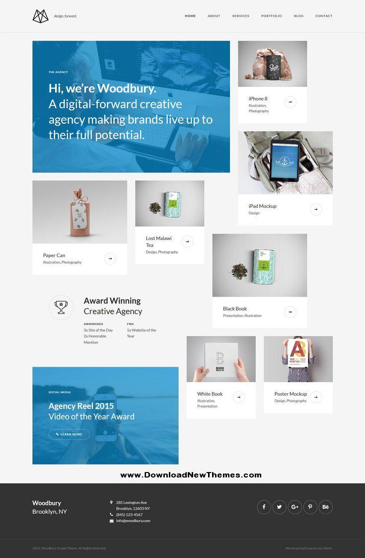 Woodbury Agency Drupal 8 Business Portfolio Theme Drupal Business Portfolio Web Design