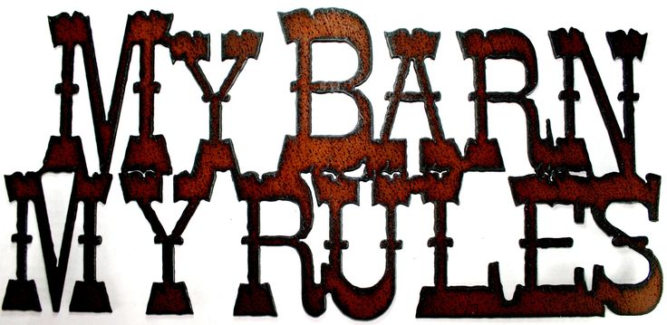 Rustic Western Home Decor Metal Sign My Barn My Rules Cowgirl Decor