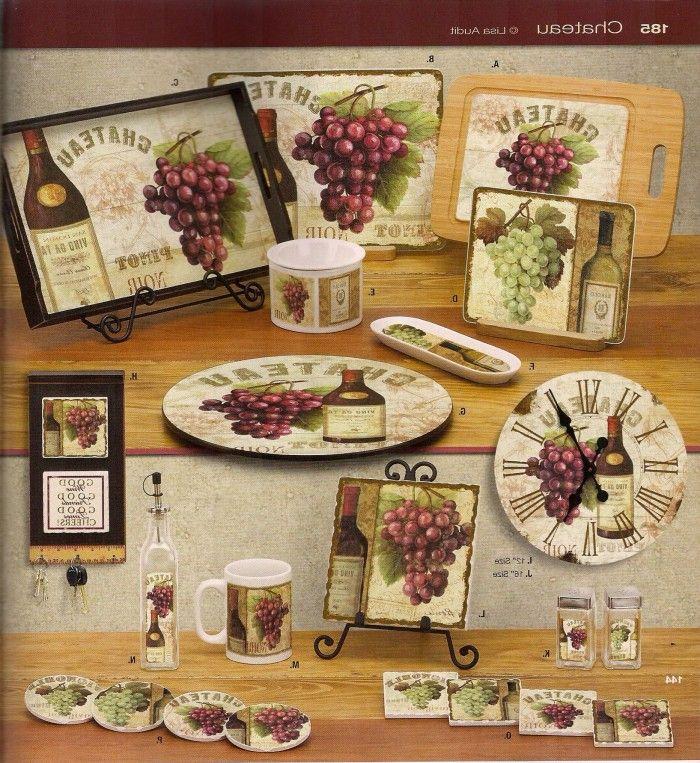 Tuscan Kitchen Decor Themes: 39 Best Grape/Grapevine Kitchen Images On Pinterest