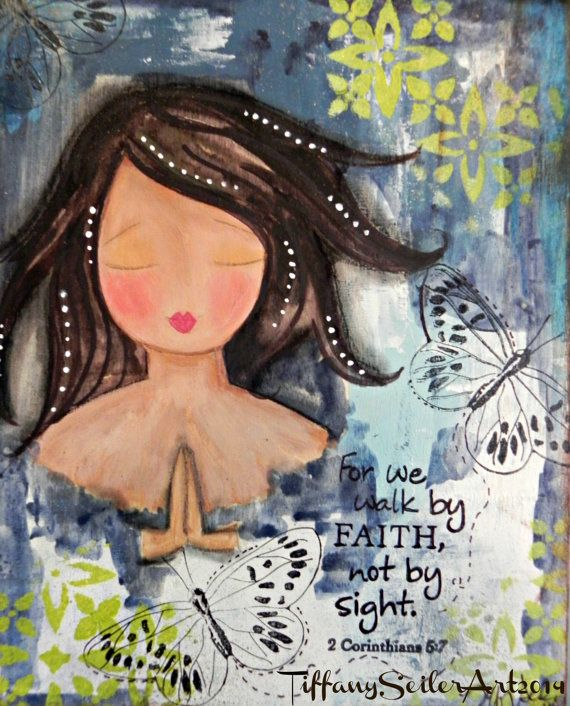 WALK By FAITH 8x10 Original Mixed media by Southendgirlart on Etsy