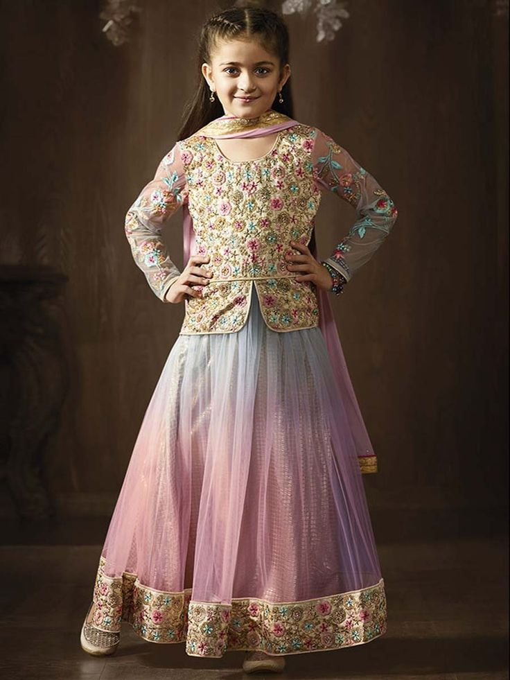 Style and luxury is specially created for your personality. Item Code: KDSRA8076 http://www.bharatplaza.com/kids/girls.html.