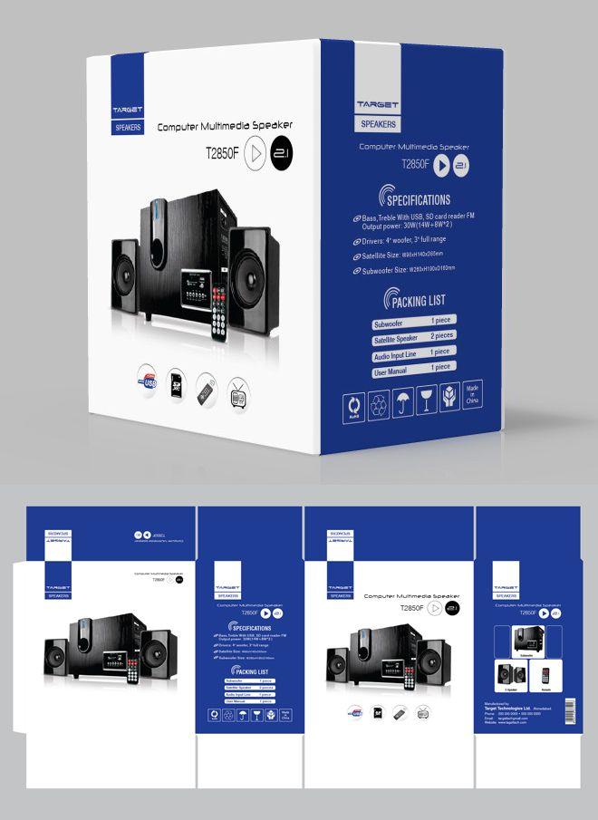 speakers packaging design